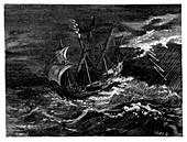St Elmo's fire on Columbus's ship,1492