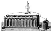 Plante accumulator battery,1859