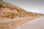 Sand dunes at Beadnell,UK