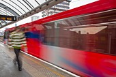 A Docklands Light Railway train