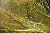 Zig Zag tracks below the Col du Balme