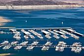 A marina on Lake Mead,Nevada