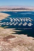 A marina on Lake Mead,Nevada,USA
