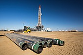 Drilling for oil,USA