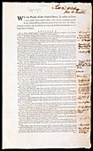 Franklin's copy of the US Constitution