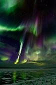 Aurora borealis,Sweden