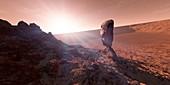 Astronaut on Mars,artwork