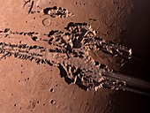 Valles Marineris,Mars,artwork