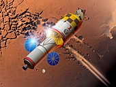 Manned mission to Mars,artwork