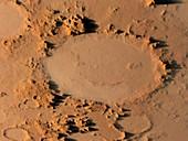 Happy face crater,Mars,artwork
