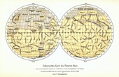Map of Mars,Schiaparelli,1888