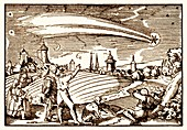 Great comet of 1577,illustration