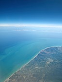 Adriatic Sea from space,illustration