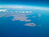 Peloponnese from space