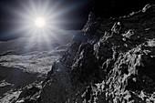 Surface of Mercury,illustration