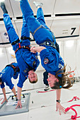 Astronauts training in free-fall