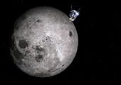 Luna 3 over the Moon,illustration