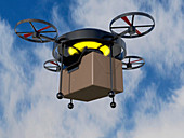 Delivery drone,illustration