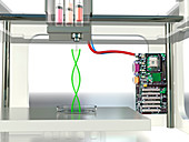 3D printed DNA,conceptual image