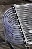Evacuated tube heat collectors