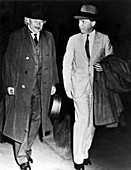 Einstein and Shapley,historical image
