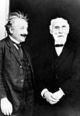 Einstein and Lorentz,historical image