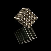 Cube of neodymium magnets