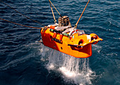 US Navy underwater mine clearance drone