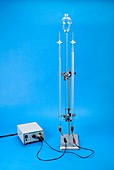 Hofmann voltameter in use