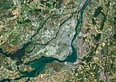 Montreal,Canada,satellite image