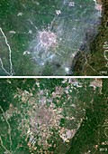 Chengdu urban spread,satellite image