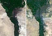 Cairo urban spread,satellite image