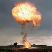 Liquid petroleum gas tank failure testing