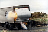 Chemical safety explosion test,1980s