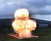 Black powder explosion,1980s