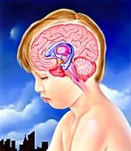 Brain and childhood depression