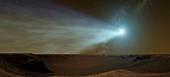 Comet Siding Spring from Mars,artwork