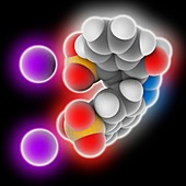 Azorubine food dye molecule
