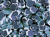 Zinc oxide crystals,SEM