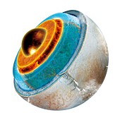 Structure of Europa,illustration