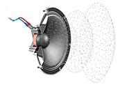 Loudspeaker soundwave,illustration