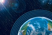 Earth's radiation belts,illustration