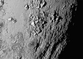 Close-up of Pluto,New Horizons image