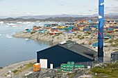 An oil fired power plant in Ilulissat