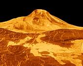 Surface of Venus,composite radar image