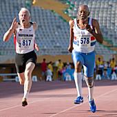 Senior athletes race to the finish