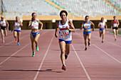 British senior athlete leads the race