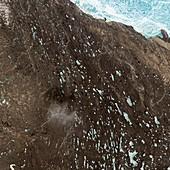 Drumlin field,satellite image