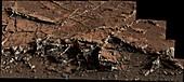 Mineral veins on Mars,Curiosity image