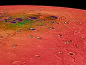 Temperatures at Mercury's north pole